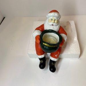 Partylite Santa Tealight Votive Candle Holder